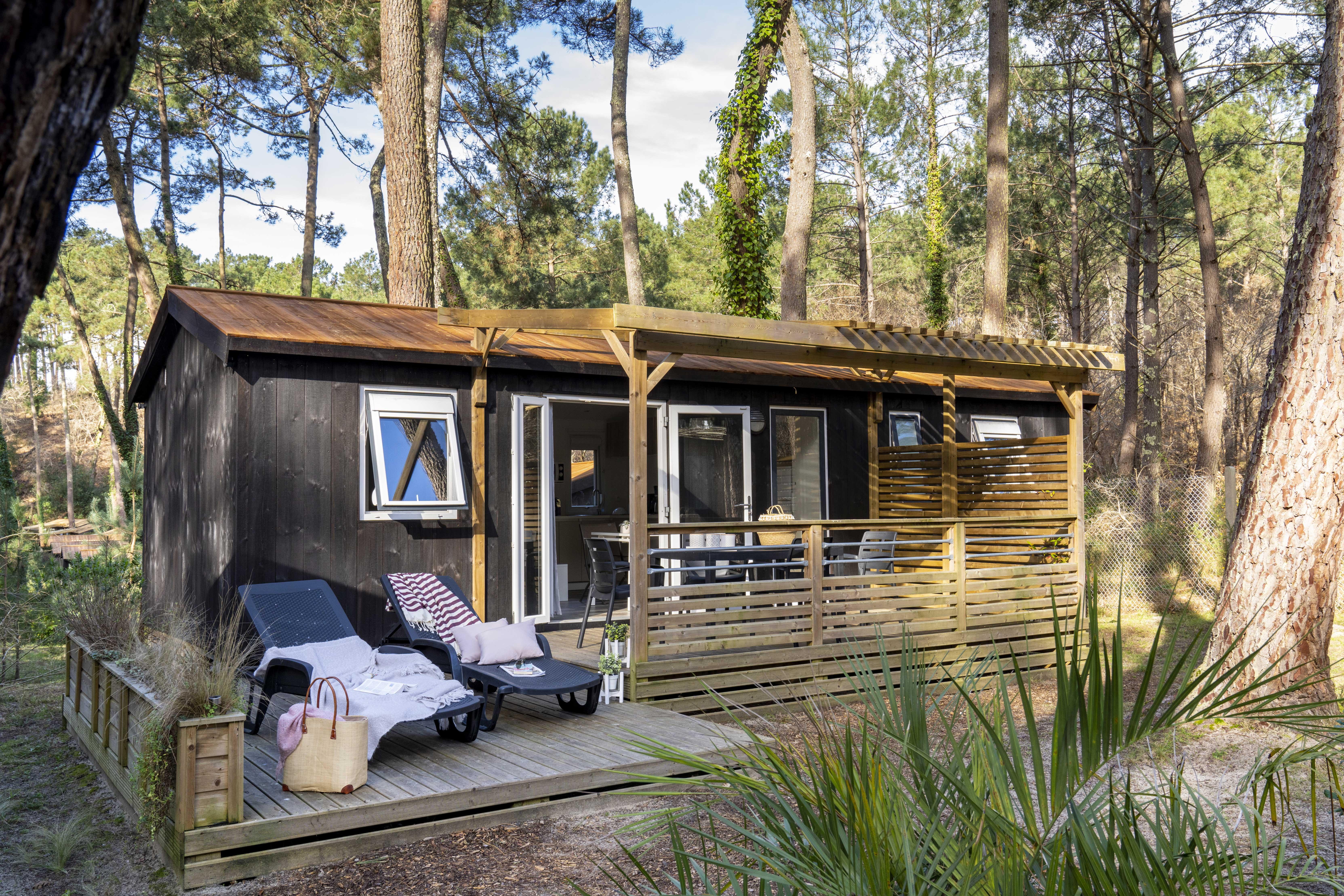 camping avec mobil home Parentis