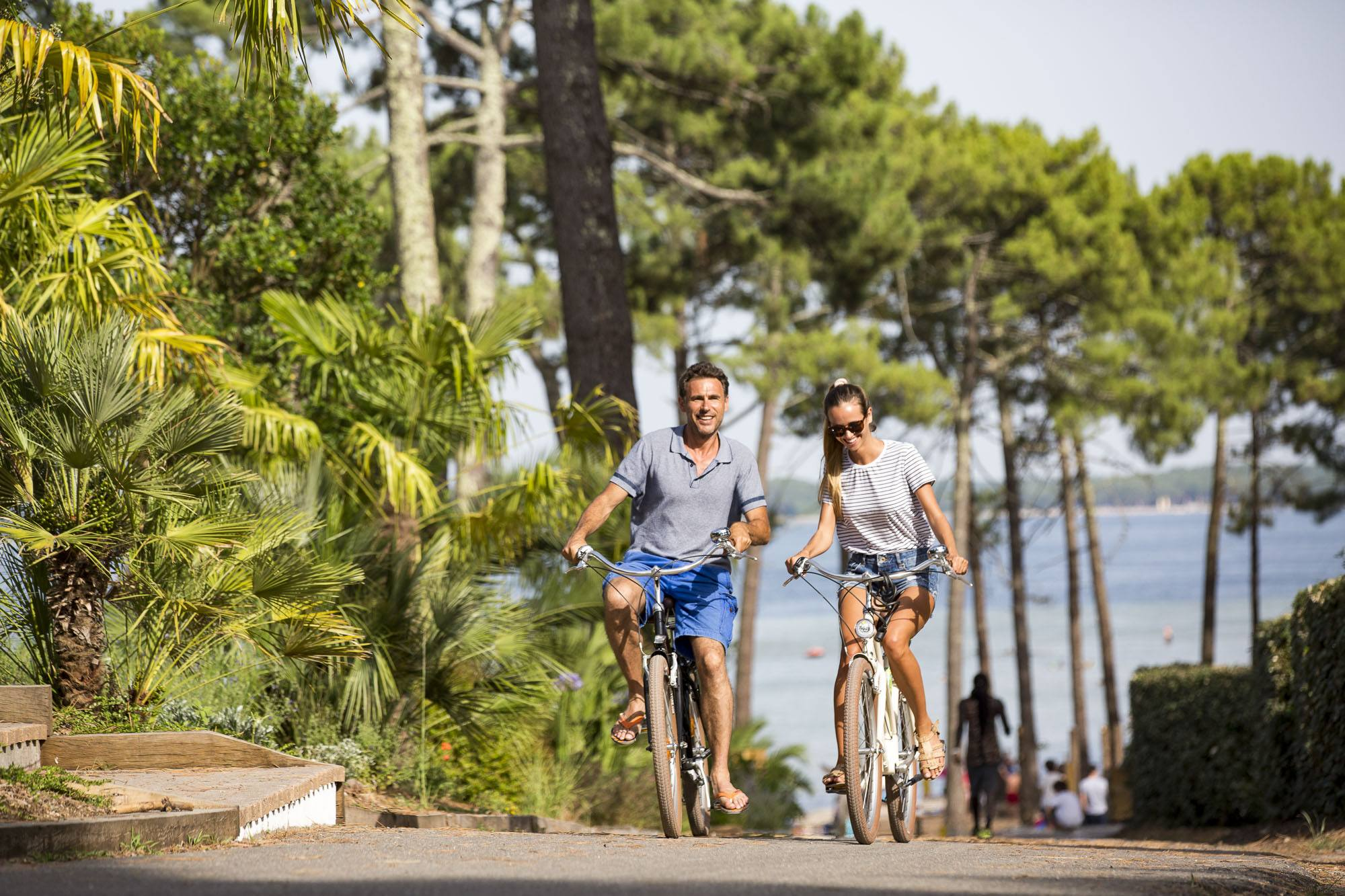 les pistes cyclables de Biscarrosse dans les Landes