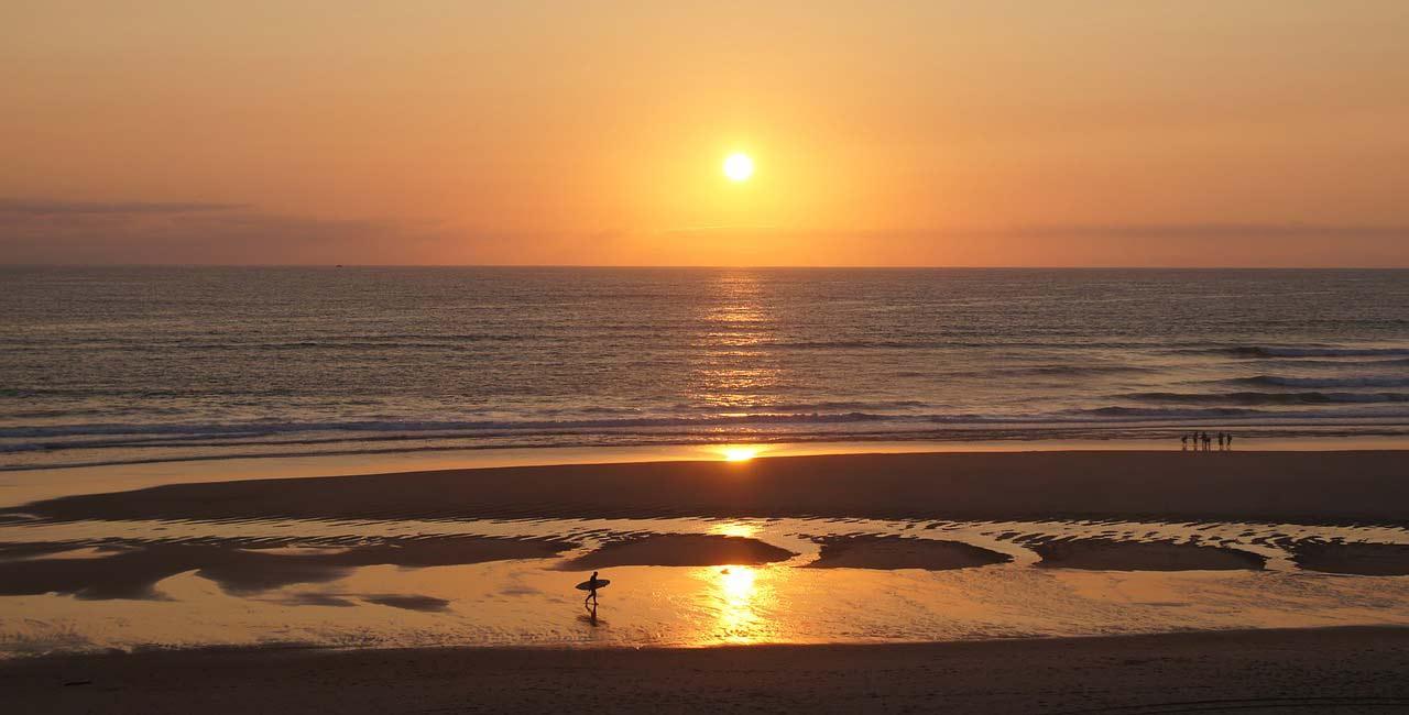 coucher de soleil Biscarrosse