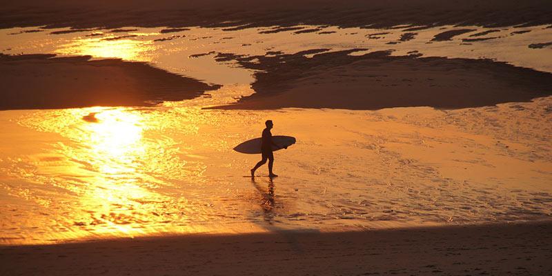 surf plage biscarrosse