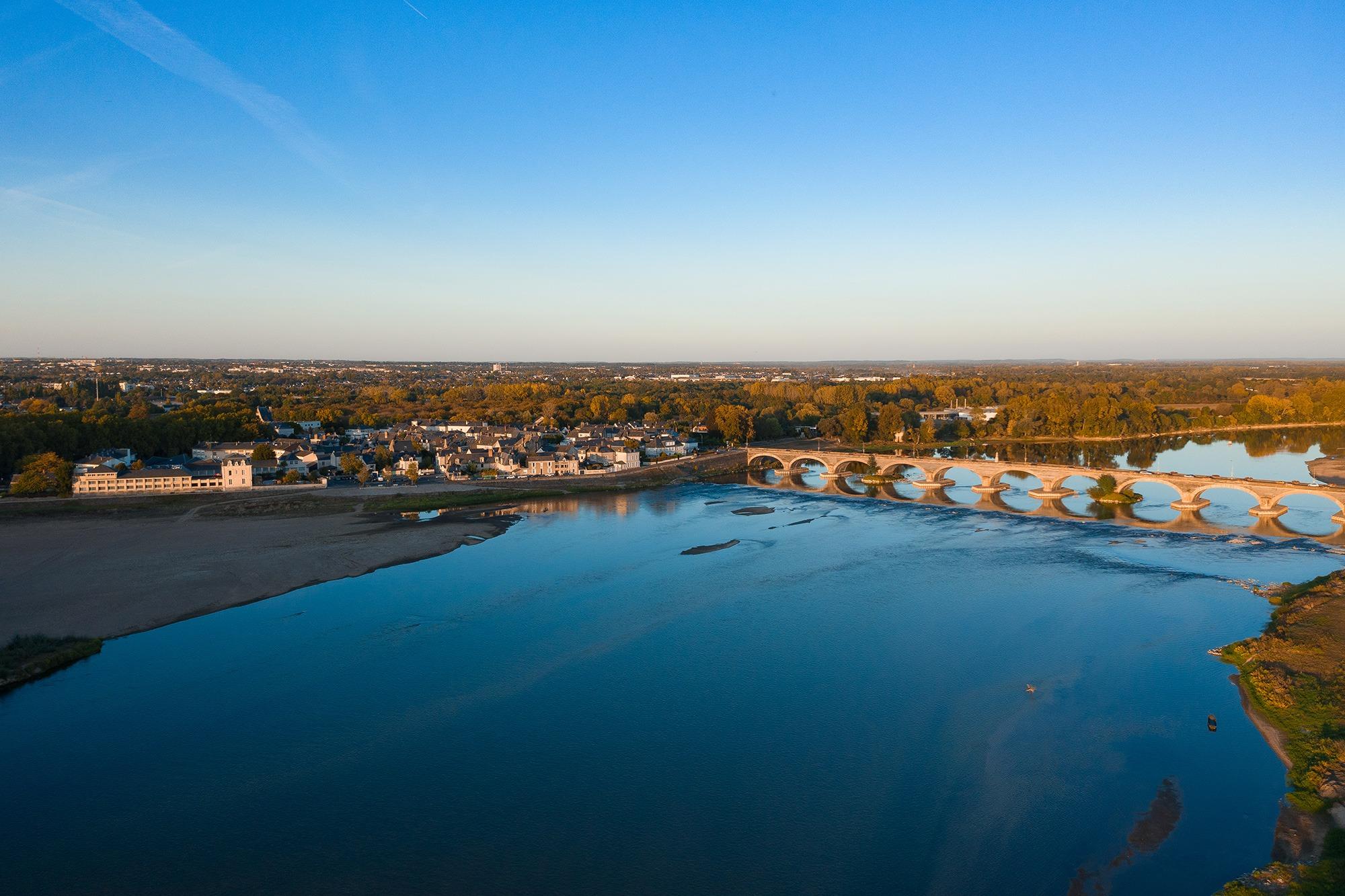 Camping Slow Village Loire Vallée, Les Ponts de Cé, Aérien, Loire